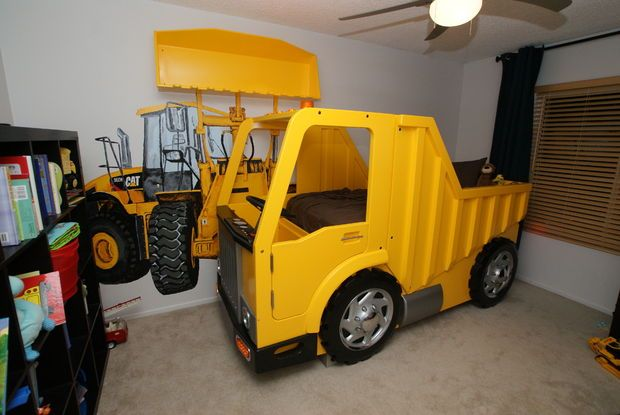 Building a dump truck bed with front loader book shelf pictures of furniture and pictures - Dump truck twin bed ...