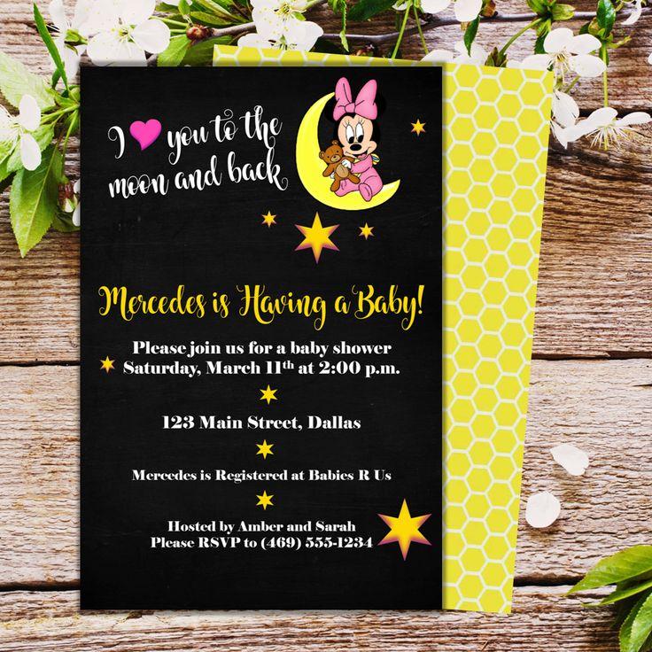 Birthday Baby Shower Invitation Minnie I