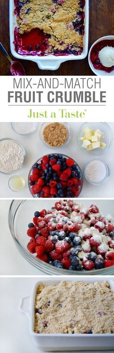 Easy Mix-and-Match Fruit Crumble #recipe from justataste.com