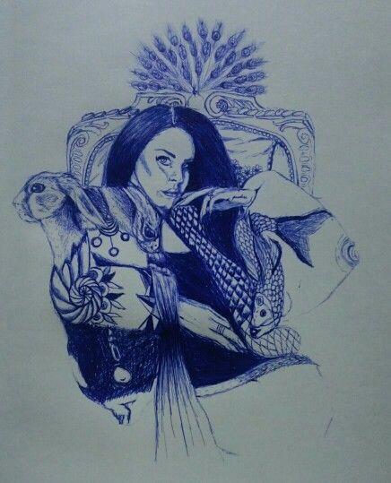 Surreal Lana del Rey // Blue pen