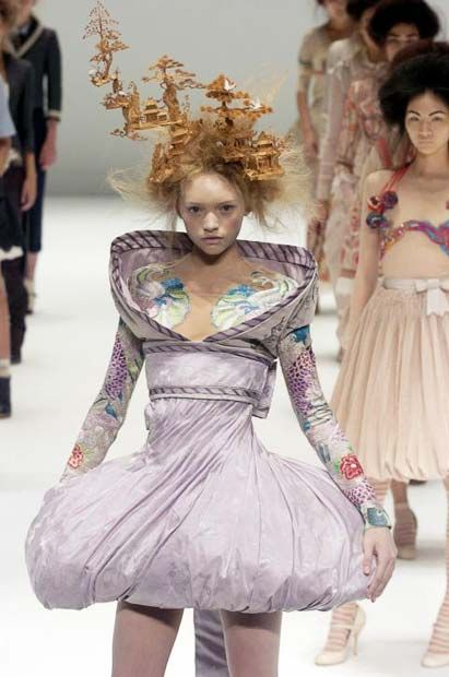 A history of catwalk collections by designer Alexander McQueen  - Telegraph s'05