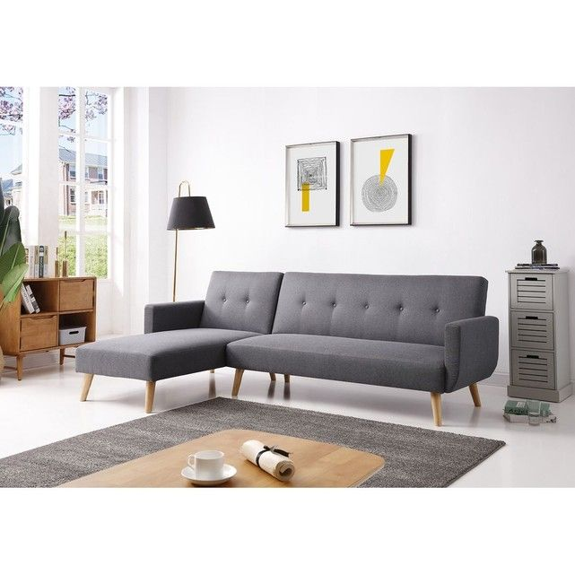Canape D Angle Convertible 4 Places Style Scandinave Berlin Xl Canape Angle Convertible Canape Angle Canape