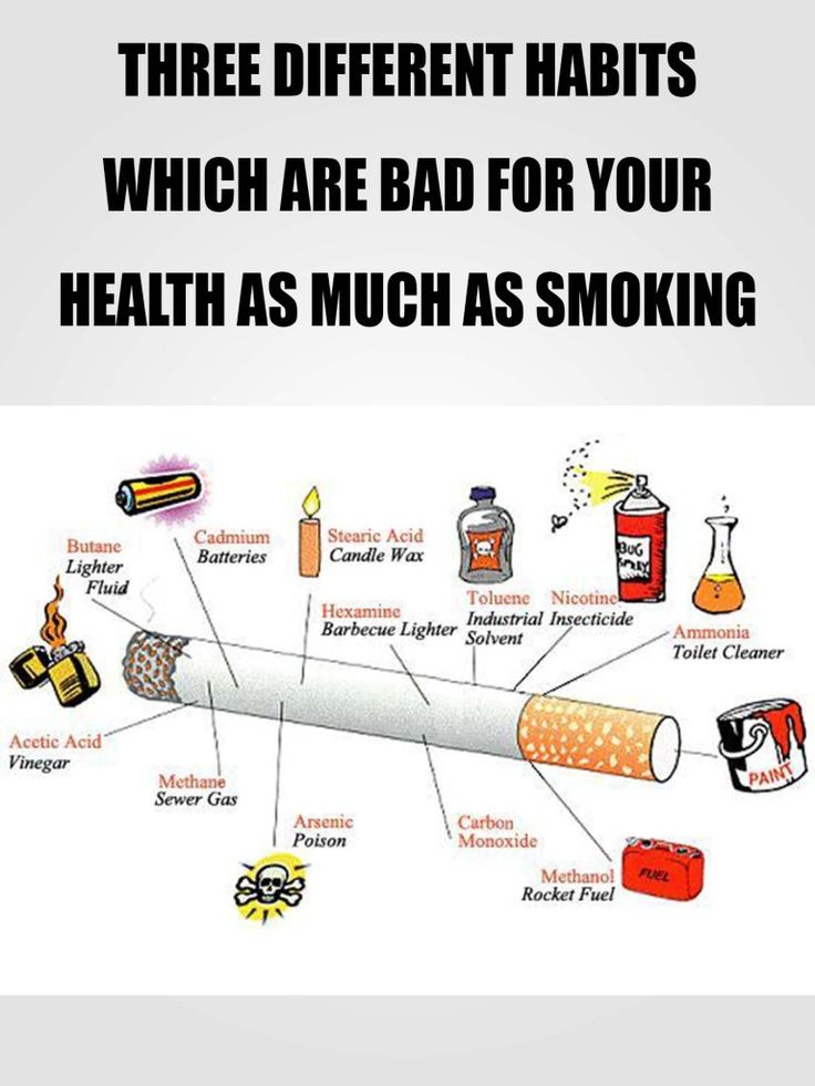 Now, many of you don't smoke and think that that's a sign for a healthy life, but at the same time you are ove
