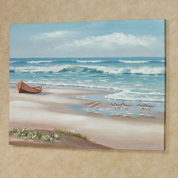 Simple Life Ocean Scene Coastal Canvas Wall Art Beach Art