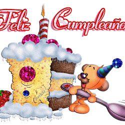 Gifs Animados de Tartas de Cumpleaños para Felicitar