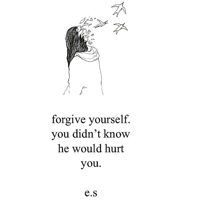 To the guy who got away with hurting me. I don't forgive you for you, I'm letting go for me. You had too much power for too long.