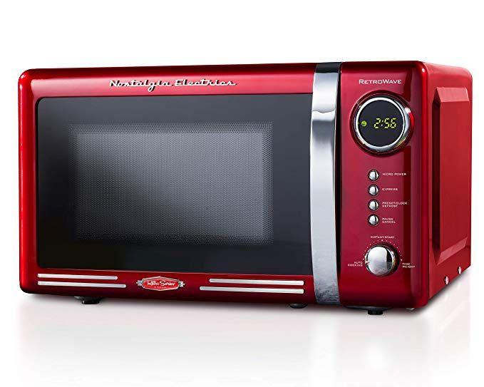 Nostalgia Electrics Retro Red 700 Watt Countertop Microwave Oven