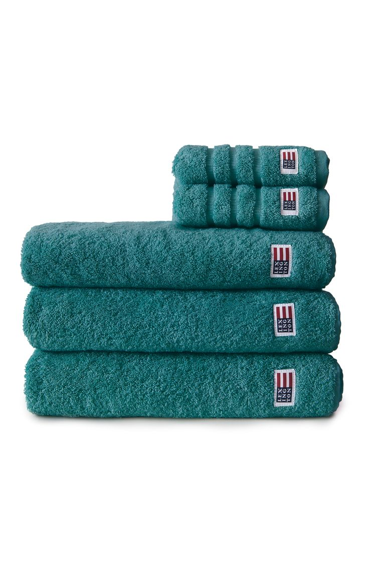 Lexington soft and heavy terry towel. Emerald Green.