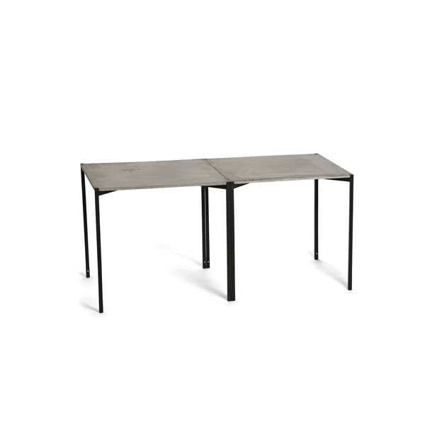 EH 6 - Dining Table. Concrete table top and black powder painted legs. #diningtable #concretetable #table #concrete #danishdesign #longdiningtable #longtable