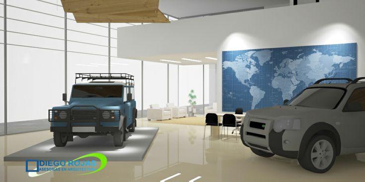 Interior Show Room Land Rover y Volvo OSORNO - Arquitecto: Diego Rojas