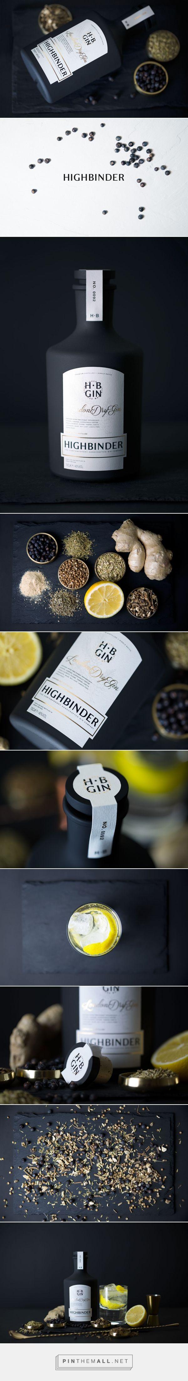 HIGHBINDER Dry Gin Packaging by Shane Goldberg | Fivestar Branding Agency – Design and Branding Agency & Curated Inspiration Gallery #packaging #packagingdesign #packagedesign #design #designinspiration