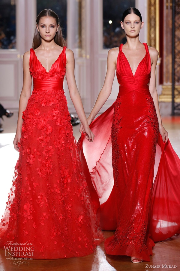 Zuhair Murad - Fall 2012 - love the one on the right.