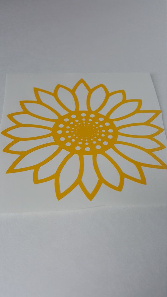 Sunflower Sunflower Decal Sunflower Wall Decal By