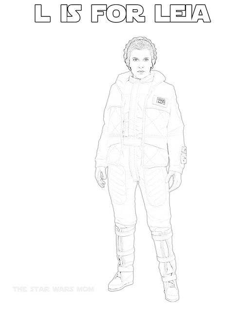 Crying While I Color Princess Leia In Her Hoth Outfit Star