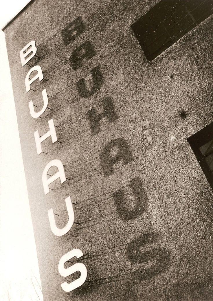 Bauhaus logo at Bauhaus Dessau