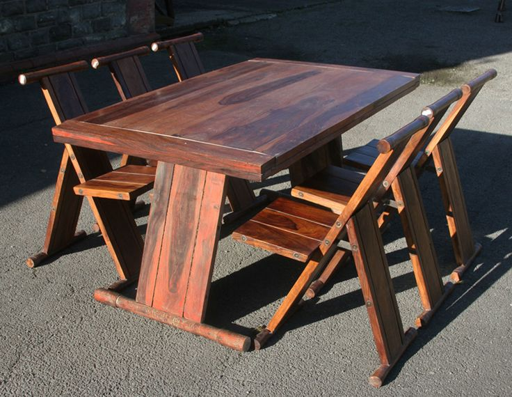 Marvelous Traditional Dining Room Furniture 5 Piece Set With Natural Folding . Part 15