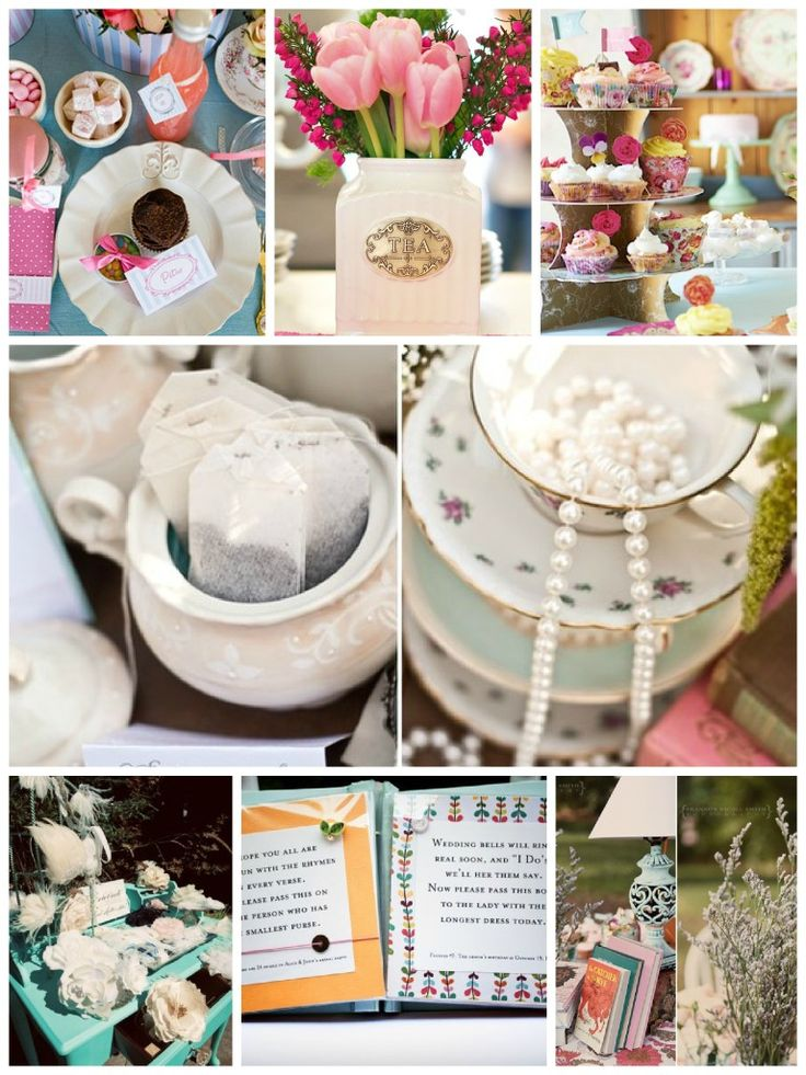 Bridal Shower Tea Party Inspiration Board - stop by and find some inspiration and creative ideas for planning a tea party for the bride to be! #DIY