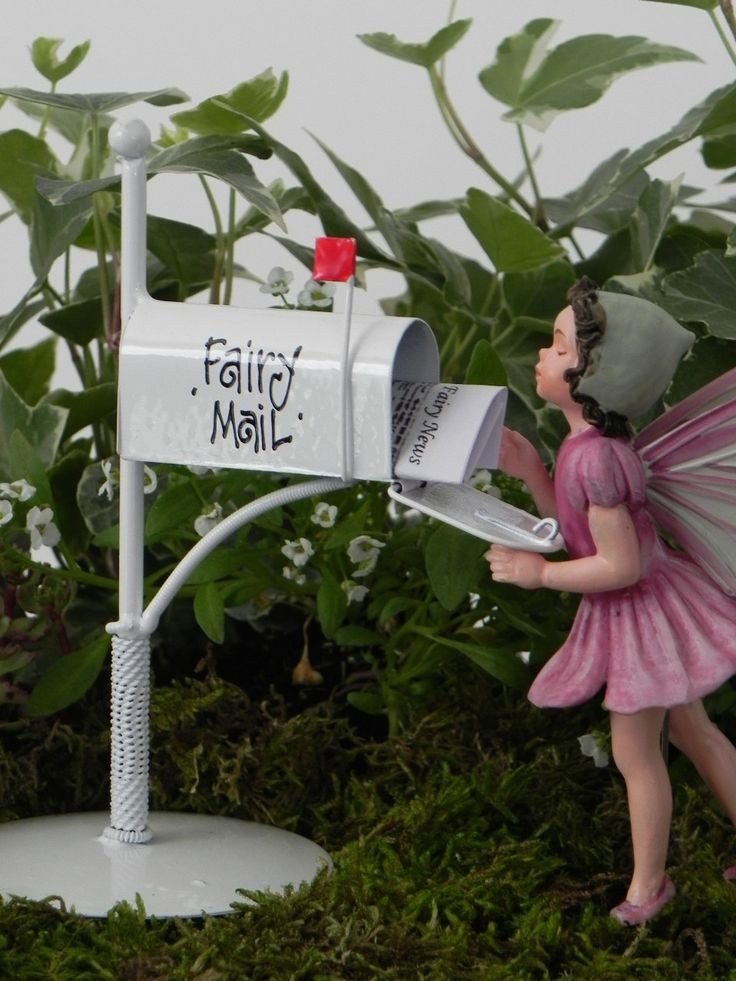 Fairy garden accessories mailbox for fairy mail miniature for Little fairy mailbox