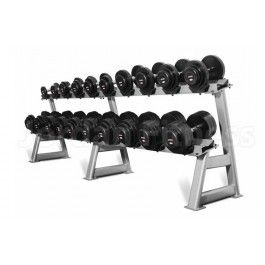 Jordan Rubber Dumbbell Sets with Rack - Dumbbells - Gym Equipment - Savage Strength