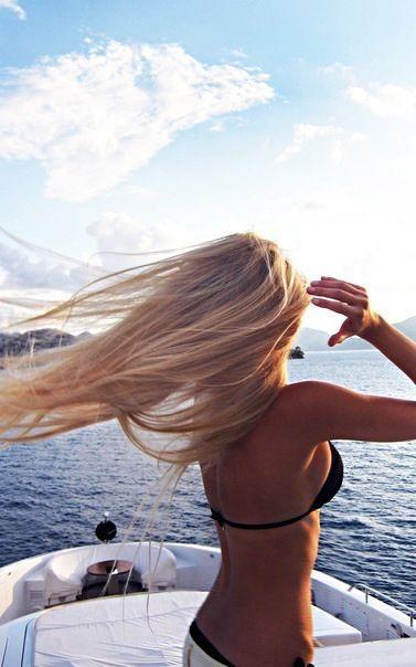 summer on a boat at sunset #suntan.com