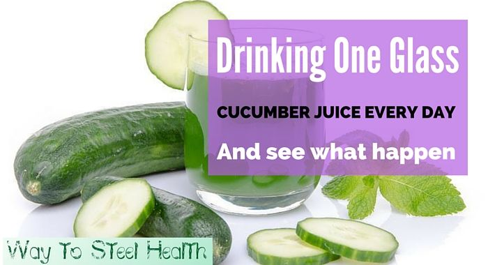 The Incredible Things that Happen in Your Body Just By Drinking One Glass of Cucumber Juice Every Day