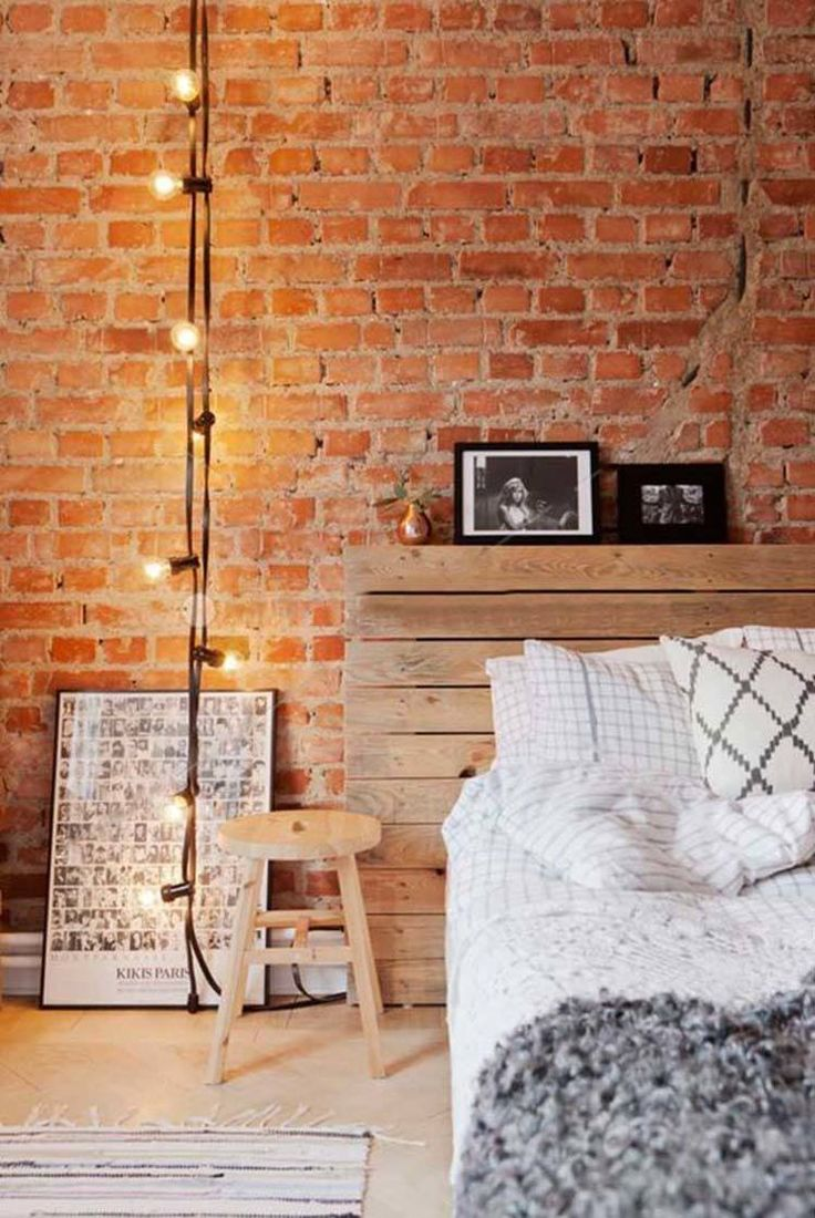 Best 25 industrial style bedroom ideas on pinterest for Bedroom w brick wall