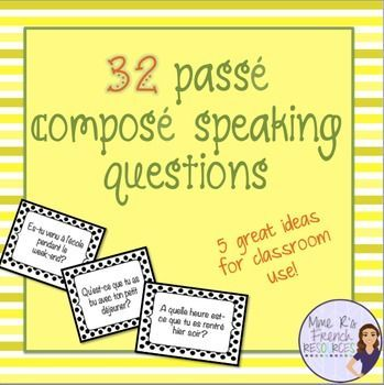 Check out this great speaking resource from Mme R's French Resources featured on the Teachers Pay Teachers blog! Perfect for level 2 French classes. Click here to see more!