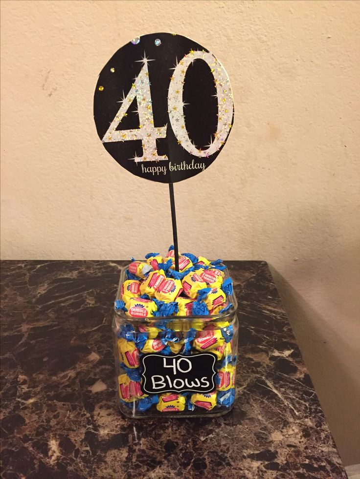 Centerpiece I made for my husband's 40th birthday party