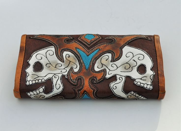 Wallet Double Scorched Skull