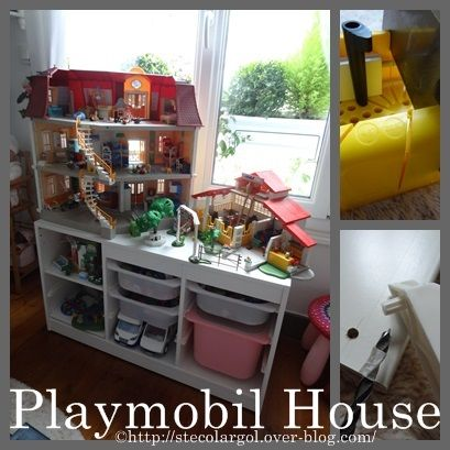 les 25 meilleures id es de la cat gorie rangement playmobil sur pinterest rangement l go. Black Bedroom Furniture Sets. Home Design Ideas