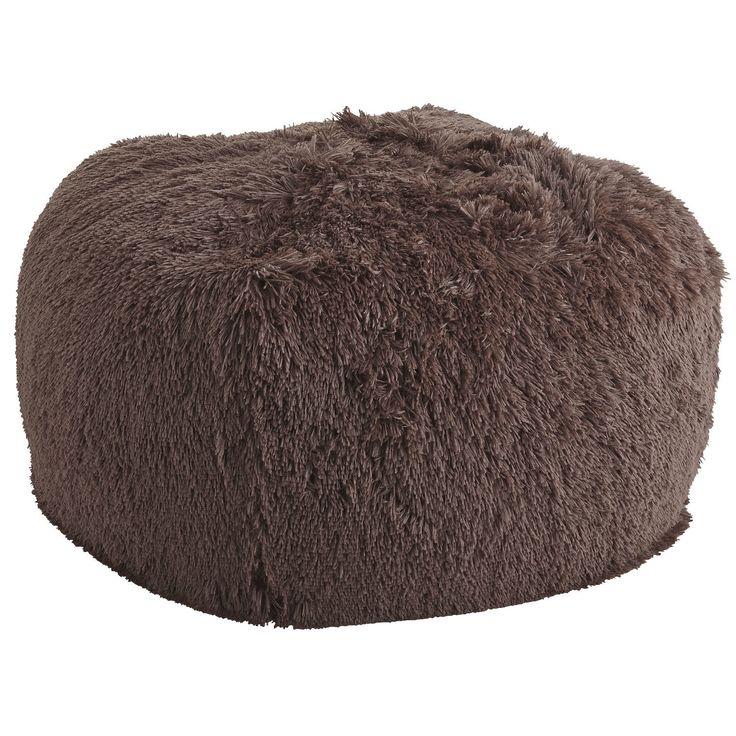 Shaggy Bean Bag - Chocolate | Pier 1 Imports