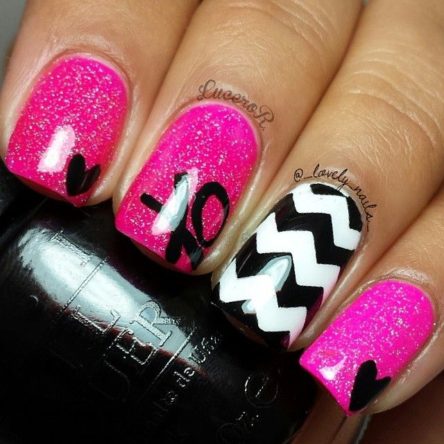 Instagram photo of nail art by _lovely_nails_ | See more nail designs at http://www.nailsss.com/nail-styles-2014/