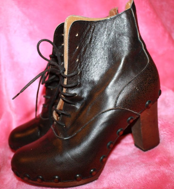 NEW Vintage DKNY high heel leather boots - gorgeous style - 5 - Made in Italy
