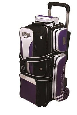 a78e42d91e 3 or More Balls 71096  Storm Rolling Thunder Purple Black White 3 Ball  Roller Bowling Bag -  BUY IT NOW ONLY   134.95 on eBay!