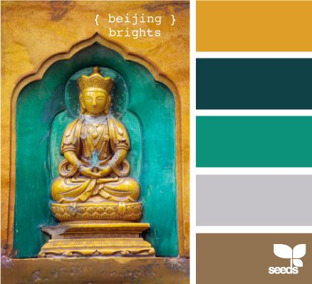 beijing brights: Design Seeds, Color Schemes, Bedrooms Colors, Blue Wall, Colors Palettes, Master Bedrooms, Colors Schemes, Gold Accent, Bedrooms Colour