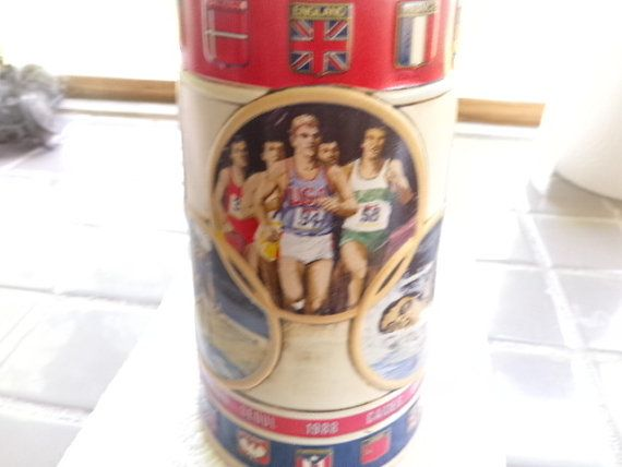 Vintage 1988 Olympics Beer Stein Anheuser Bush by Morethebuckles