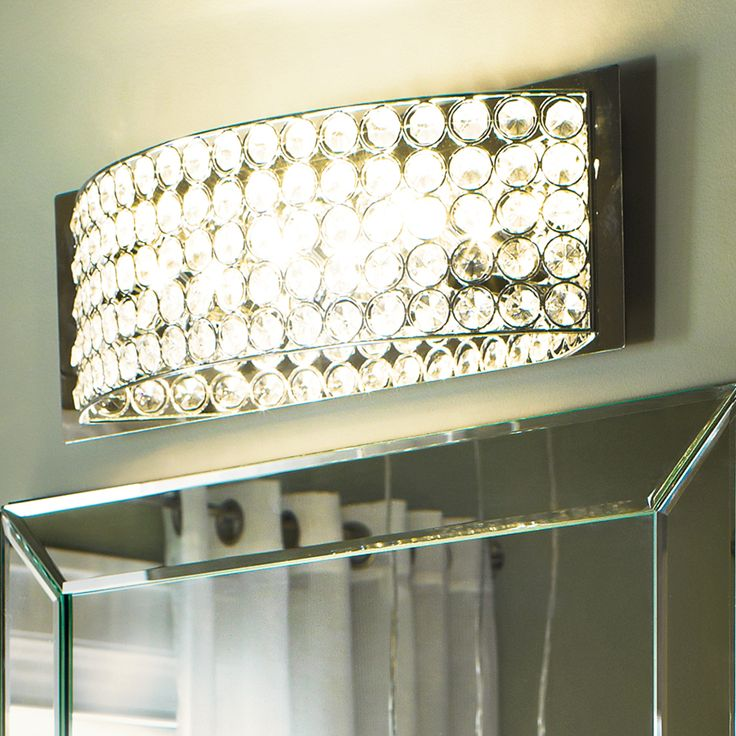 Shop Kichler Lighting 4 Light Krystal Ice Chrome Crystal Bathroom Vanity  Light At Lowes. Part 90