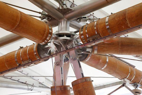 Uniones de alta tecnología para bambú