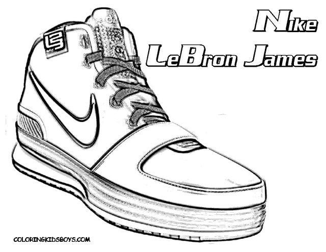 30 Exclusive Photo Of Basketball Coloring Pages Albanysinsanity Com Shoe Sketches Lebron James Shoes James Shoes