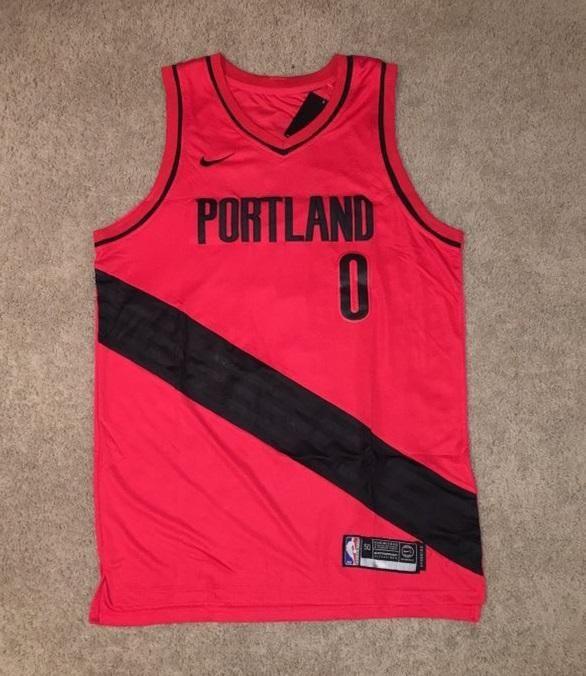 Men 0 Damian Lillard Jersey Red Portland Trail Blazers
