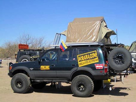 80 Series Land Cruiser with rooftop tent