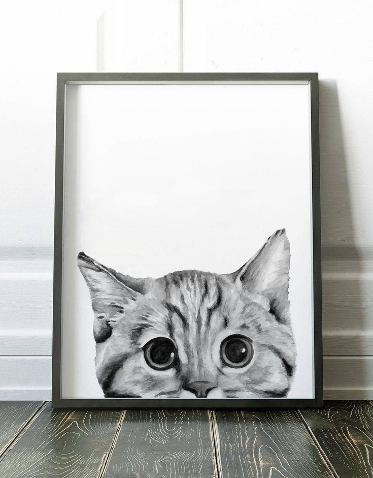 Самый красивый постер кошки распечатать
