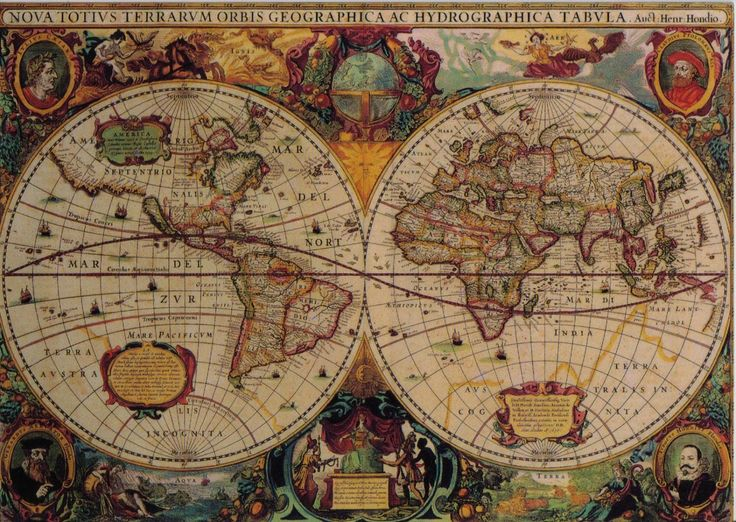 The 15 best vintage maps images on pinterest vintage cards eurographics jigsaw puzzles antique world map gumiabroncs Choice Image