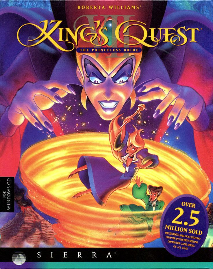 Cover art for Roberta Williams' King's Quest VII: The Princeless Bride (DOS) database containing game description & game shots, credits, groups, press, forums, reviews, release dates and more.