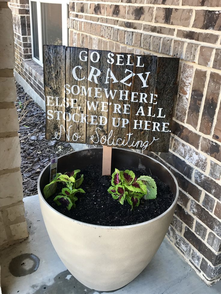 "No soliciting sign diy, go sell crazy somewhere else we're all stocked up here ""As Good As It Gets"" movie"