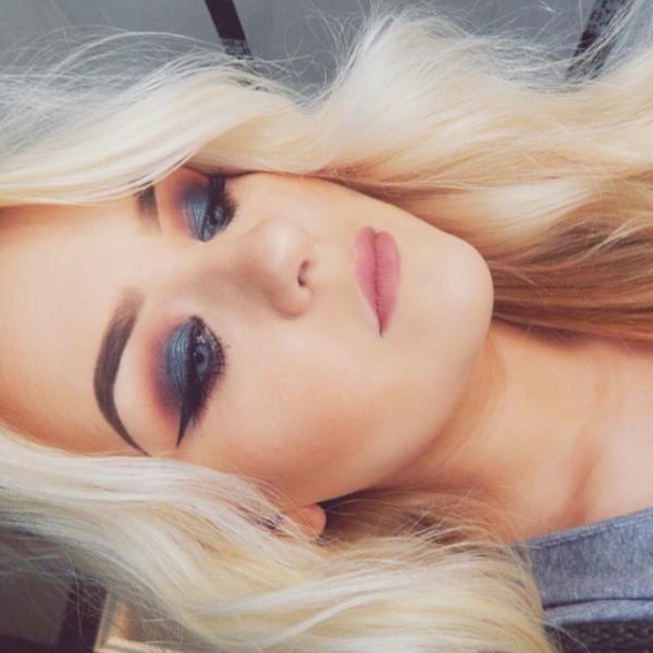 Gorgeous makeup by Ella using Makeup Geek's Houdini foiled eyeshadow and Cocoa Bear eyeshadow.