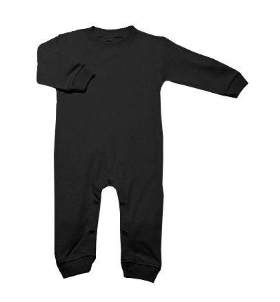 Blank Black Long Sleeve Romper - My Baby Rocks www.punkbabycloth... www.mybabyrocks.com #mybabyrocks #punkbabyclothes #baby