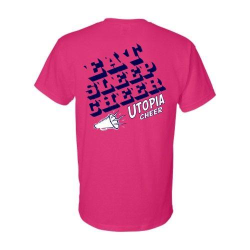 Cheer Camp T-Shirt Sample Back   Custom Screenprinted ...