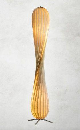 Floor lamp made of wood veneer - designed by Tom Rossau (http://www.tomrossau.dk)