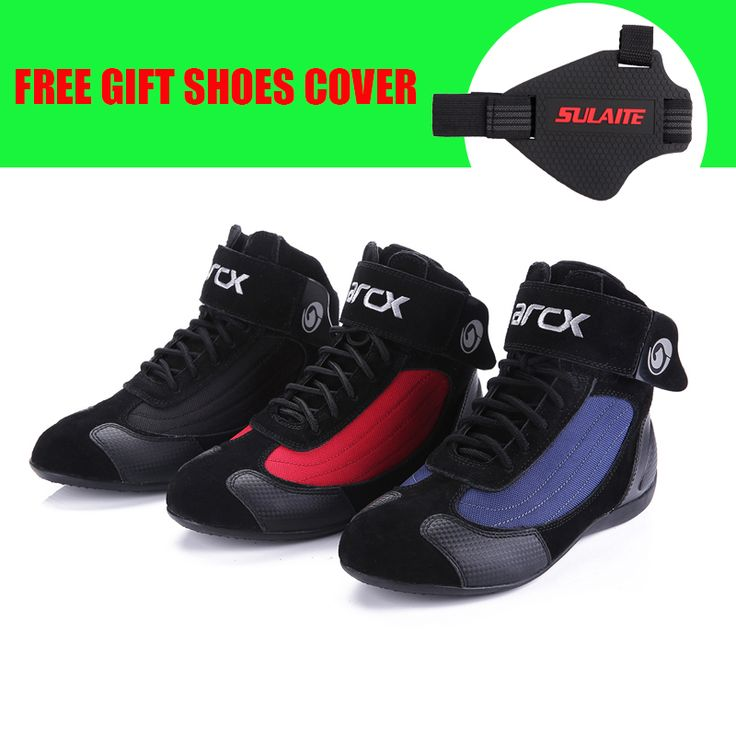 check discount arcx motorcycle leather boots motocross off road protective boot botas scooter racing #road #bike #shoes